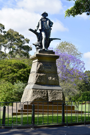 Sydney, NSW, Australia - October 28, 2017: Memorial for Robert Burns, well known Scottish poet and lyricist