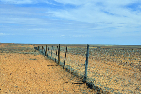 Australia, dog fence aka dingo fence, 5300 km long fence to protect pasture for sheeps and cattles