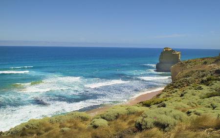Beach and shore on the Great ocean Road near Twelfe Apostles, Australia
