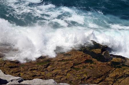 Australia, breakers on shore in Bondi Stock Photo