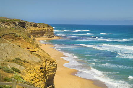 Australia, beach and shore on the Great ocean Road near Twelfe Apostles