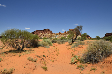 Australia, rock formation in Rainbow valley national park in Northern Territory Stock Photo