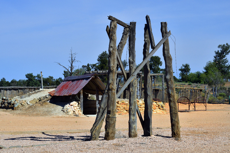 Australia, Mungo National Park in New South Wales, historical Zanci homestead Stock Photo