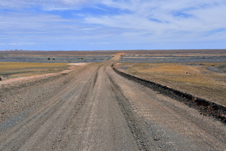 Australia, unsealed road between Coober Pedy and Odnadatta