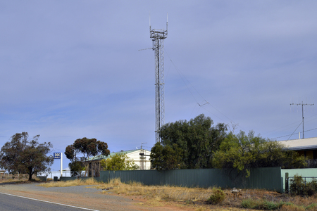 South Australia, police and transmitting station on Barrier highway on border to New South Wales