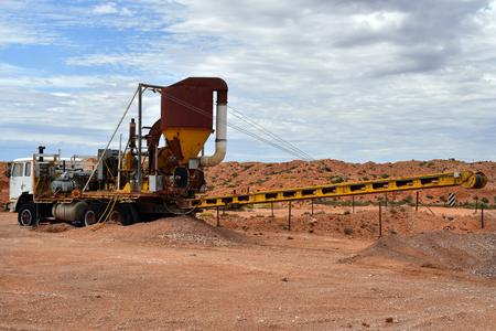 Australia, Coober Pedy, mining equipment named blower