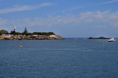 Australia, Bathurst lighthouse on Rottnest Island, preferred travel destination near Perth in Western Australia Stockfoto