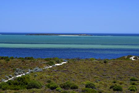 Australia, WA, Hansen bay with Cervantes island Stock Photo