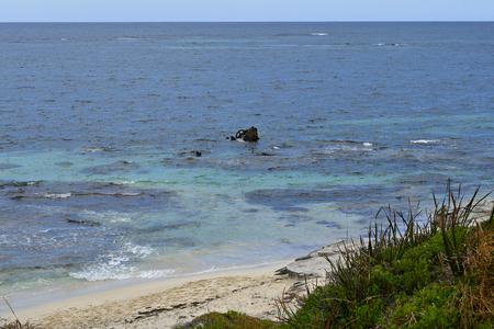 Australia, ship wreck on Porpoise bay in Indian ocean, Rottnest Island Stock Photo