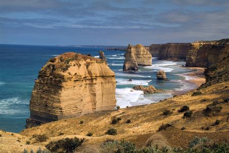 Australia, natural landmark Twelve Apostles on Great Ocean Road in Victoria