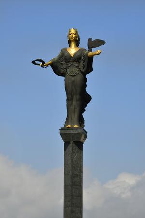 Sofia, Bulgaria - June 16, 2018:  Statue of Sveti Sofia on Serdica Square Editorial