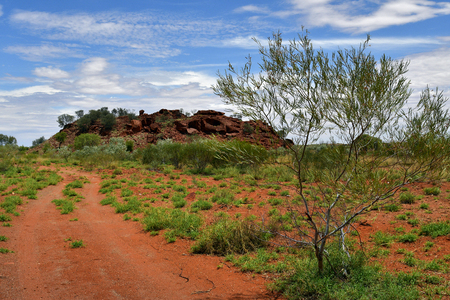 Australia, NT, public Ewaninga Conservation Reserve, area with prehistoric engravings and Aborigines historical site