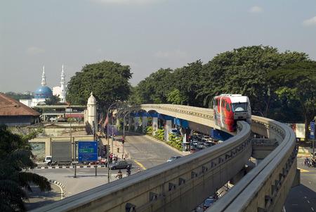 Kuala Lumpur, Malaysia - November 03, 2011: Public monorail train, Fashion of transportation in the capitall