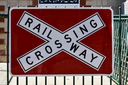 Australia, railroad crossing sign