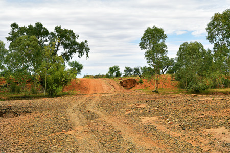 Australia, NT, unsealed road in Australians outback