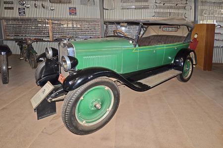 Alice Springs, NT, Australia - November 20, 2017: Vintage cars in The Ghan museum, Chevrolet national tourer