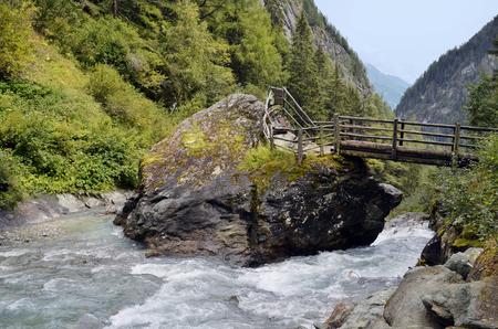 Austria, Tirol, Umbal waterfall in Virgen Valley, East Tyrol