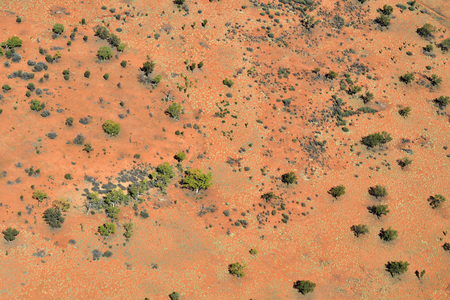Australia, NT, aerial view from arid landscape south of Alice Springs on the edge to Simpson desert