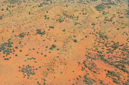 Australia, NT, aerial view of Chambers Pillar historical reserve landscape in Simpson desert Stock Photo