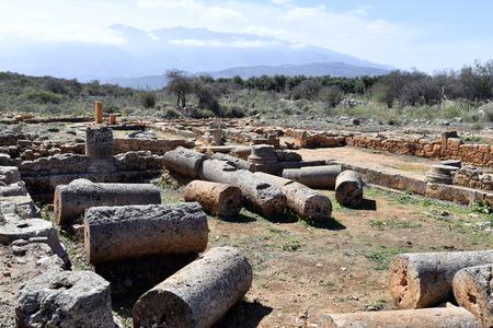 Greece, Crete, ancient Minoan ruins of Aptera Stock Photo