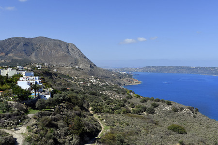 Greece, village Aptera and bay of Souda on Crete Island