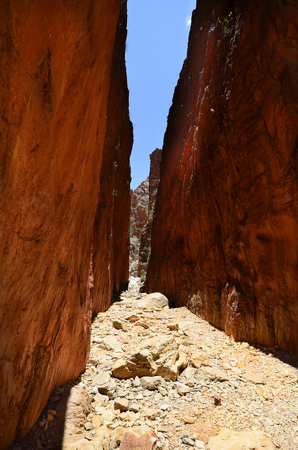 Australia, NT, remarkable Standley Chasm in McDonnell Range national park