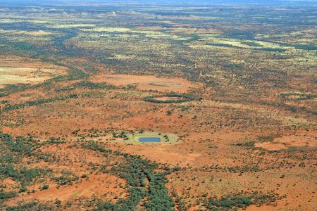 Australia, NT, water reservoir for live stock in Australians outback
