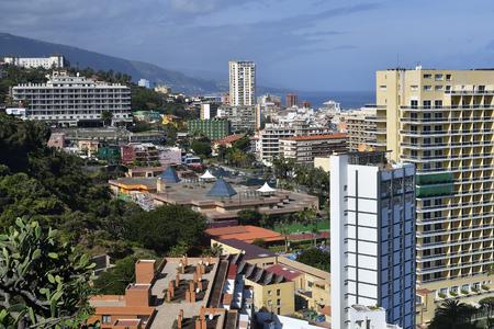 Spain, Canary Islands, Tenerife, cityscape of Puerto de la Cruz, preferred travel destination on Atlantic ocean
