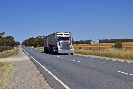 Australia, heavy truck usually named Road Train on Hume Highway