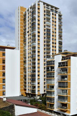 Spain, Canary Islands, Tenerife, residential building in Puerto de la Cruz