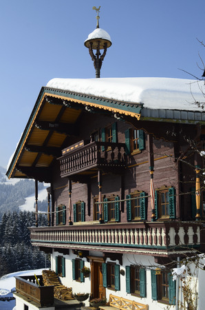 Austria, farmstead in traditional architecture in Tyrol