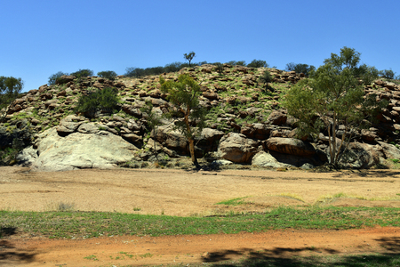 Australia, NT, the original place Alice Springs, mostly dry 스톡 콘텐츠