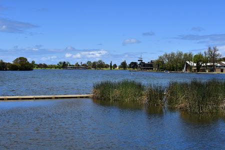 Australia,  Albert Park Lake in Melbourne Standard-Bild - 118981157