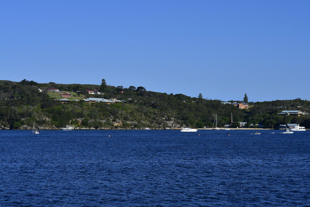 Australia, Sydney, Sydney Harbour National Park with Q-Station on North Head in Manly, former quarantine station Standard-Bild - 118981281