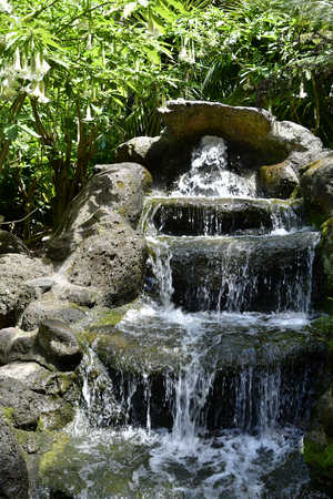 Australia, fountain in public Fitzroy gardens in East Melbourne Standard-Bild - 118981309