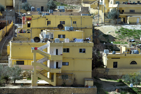 Jordan, homes with outside staircase in Wadi Musa village
