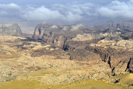 Jordan, desert landscape in Masuda Proposed Reserve Stock Photo