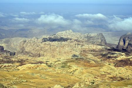 Jordan, desert landscape in Masuda Proposed Reserve Imagens