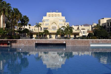 Jordan, hotel complex with pool situated on Tala Bay, Red Sea