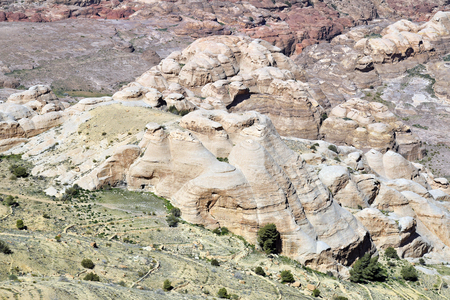 Jordan, arid landscape around ancient Petra