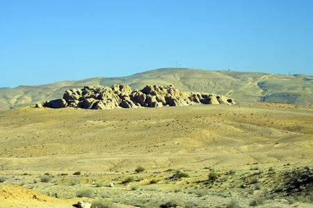 Jordan, arid and treeless landscape Stock Photo