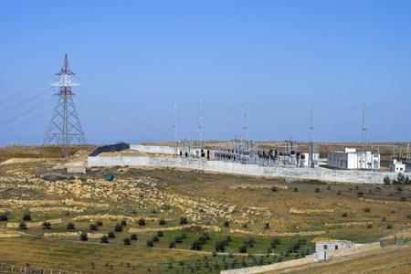 Jordan, transformer and transmitting station 版權商用圖片