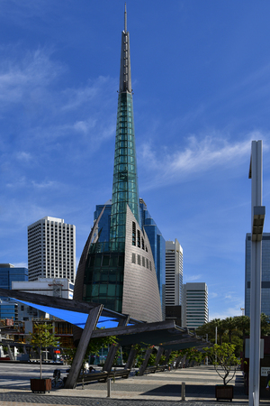 Australia, Perth, Bell Tower aka Swan Bells, landmark in the capital of Western Australia
