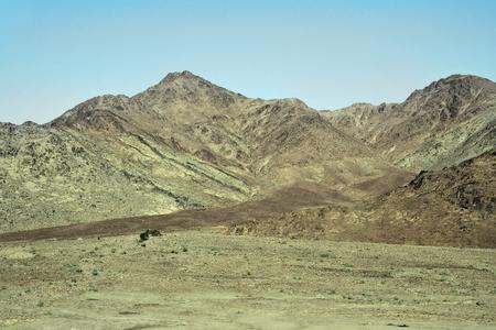 Jordan, treeless and arid landscape