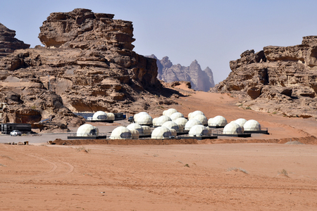 Jordan, space camp for tourists in Wadi Rum
