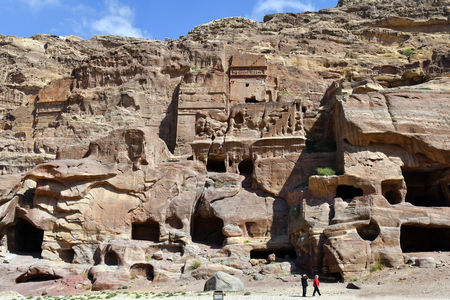 Jordan, ancient Petra, a Unesco World Heritage site in Middle East