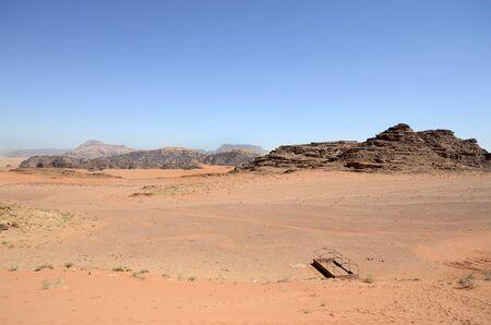 Jordan, Wadi Rum, desert landscape inn Middle East