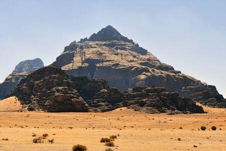 Jordan, Wadi Rum, arid landscape in Middle East Reklamní fotografie