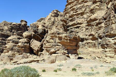 Jordan, Wadi Rum, rock formation  in Middle East Reklamní fotografie