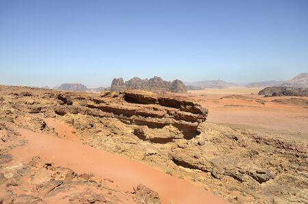 Jordan, Wadi Rum, desert landscape  in Middle East